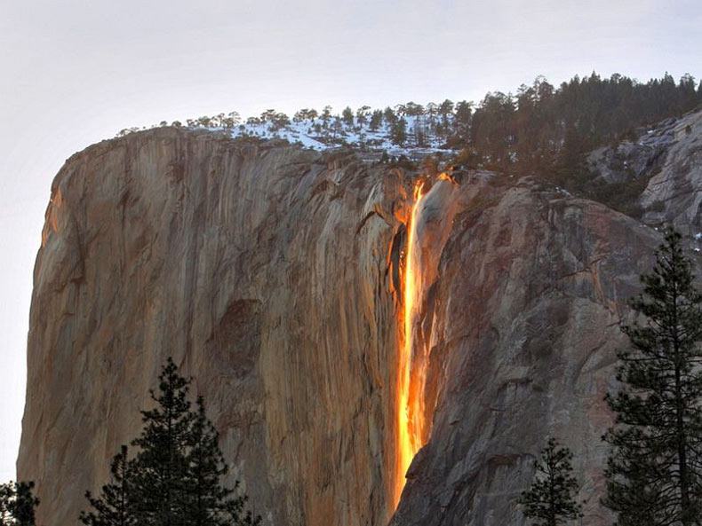 Horsetail Fall Waterfall, California