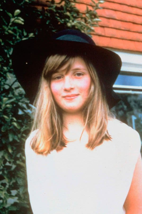 Princess Diana as a teenager