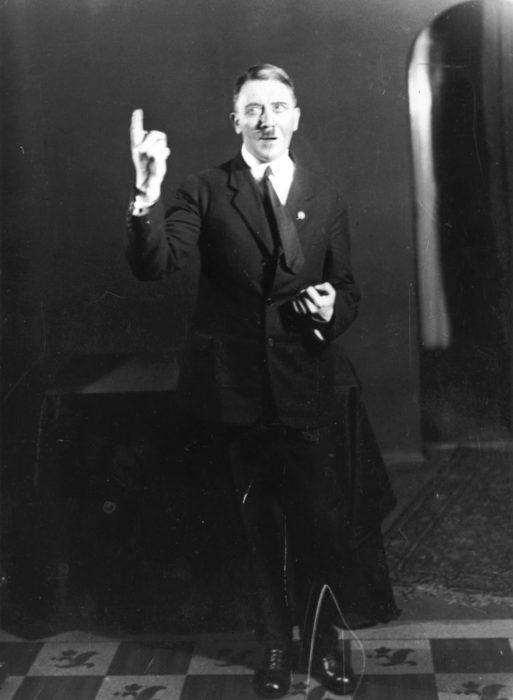 6. Hitler rehearsing his speech