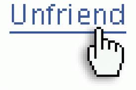 Unfriend her/his friends